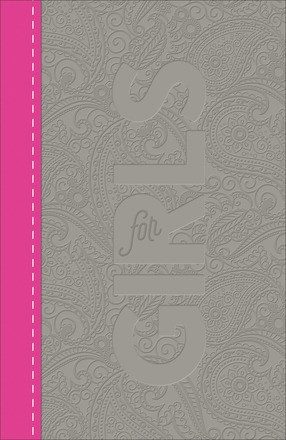 CSB Study Bible For Girls, Pewter/Pink, Paisley Design (Imitation Leather)