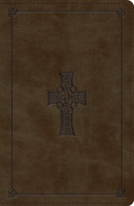 ESV Reference Bible, TruTone, Olive, Celtic Cross Design (Imitation Leather)