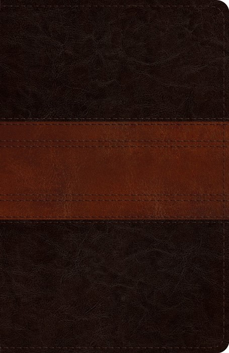 ESV Reference Bible, TruTone, Deep Brown/Tan, Trail Design (Imitation Leather)