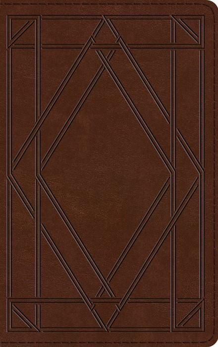 ESV Thinline Bible, TruTone, Chestnut, Wood Panel Design (Imitation Leather)
