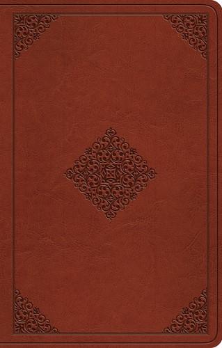 ESV Premium Gift Bible, TruTone, Tan, Ornament Design (Imitation Leather)