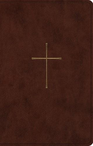 ESV Premium Gift Bible, TruTone, Brown, Cross Design (Imitation Leather)