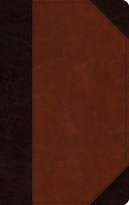 ESV Large Print Personal Size Bible, TruTone, Brown/Cordovan (Imitation Leather)