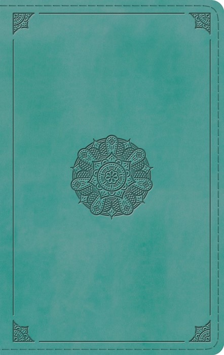 ESV Large Print Personal Size Bible, TruTone, Turquoise (Imitation Leather)