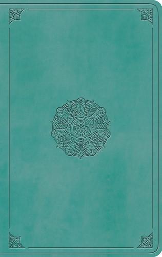 ESV Large Print Value Thinline Bible TruTone, Turquoise (Imitation Leather)