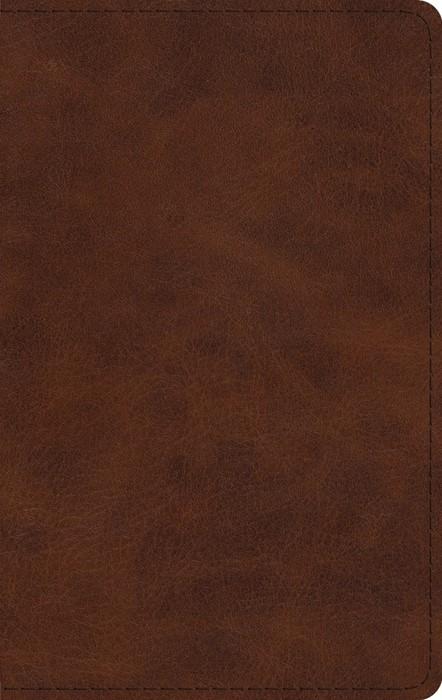 ESV Large Print Thinline Bible, TruTone, Deep Brown (Imitation Leather)