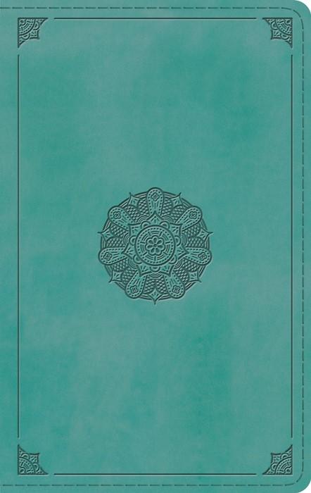 ESV Large Print Thinline Bible, TruTone, Turquoise (Imitation Leather)