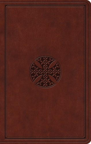 ESV Value Thinline Bible, TruTone, Brown,Mosaic Cross Design (Imitation Leather)