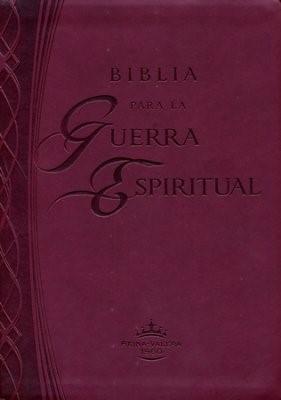 Biblia para la guerra espiritual (Imitación piel color vino) (Leather Binding)