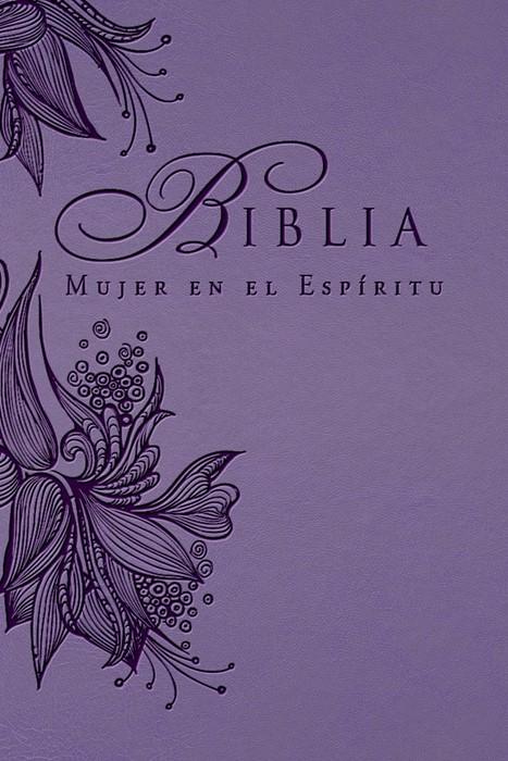 Biblia Mujer en el Espíritu (Lavanda) (Leather Binding)