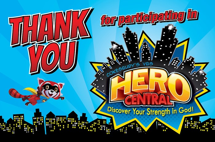 VBS Hero Central Thank You Postcards (Pack of 24) (Postcard)