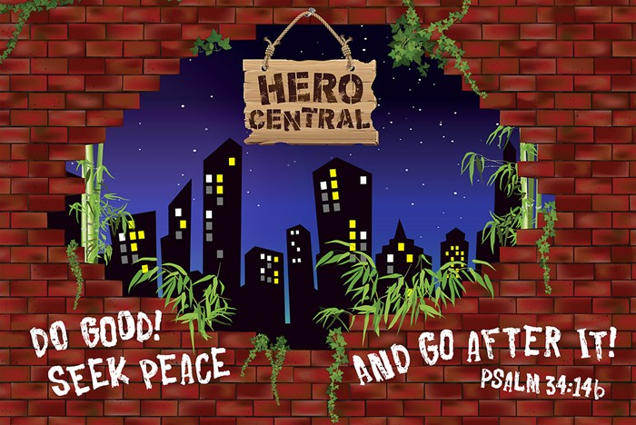 Vacation Bible School 2017 VBS Hero Central Decorating Mural (Poster)