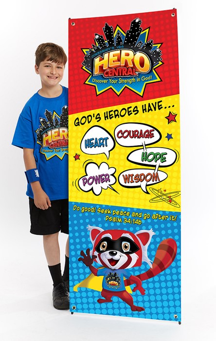 Vacation Bible School 2017 VBS Hero Central Theme Banner (Poster)