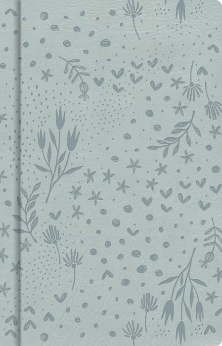 Pale Blue Floral, Journal (Leather Binding)