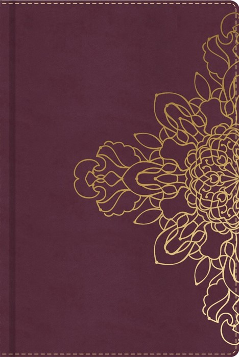 Burgundy with Floral Motif, Journal (Leather Binding)