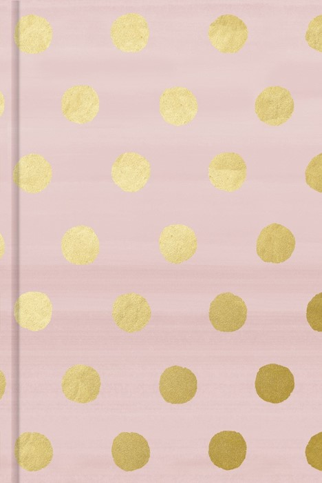 Pink with Gold Dots, Journal (Hard Cover)