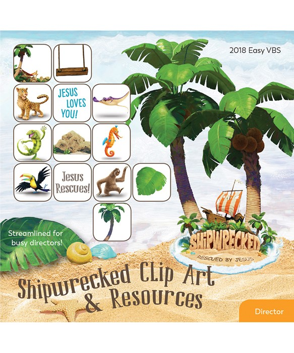 VBS Shipwrecked Clip Art And Resources CD (CD-Audio)