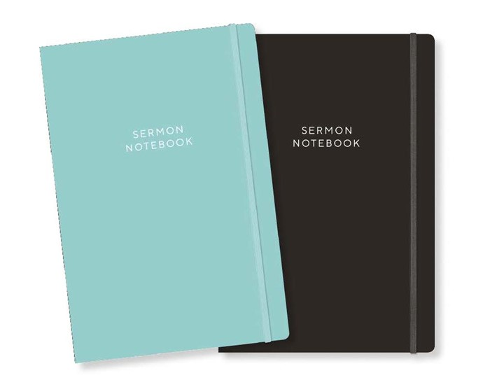 Sermon Notebook, Teal (Paper Back)
