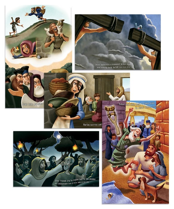 VBS Bible Story Posters (Pack of 5) (Poster)