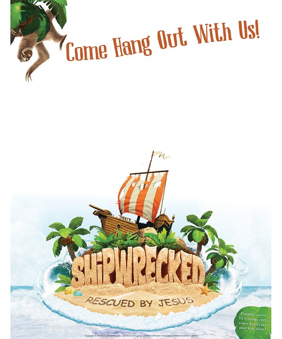 VBS Shipwrecked Publicity Posters (Pack of 5) (Poster)