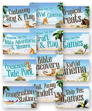 VBS Station Signs (Pack of 12) (Poster)