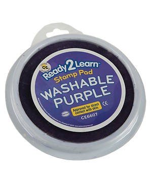 VBS Large Round Stamp Pad Purple (General Merchandise)