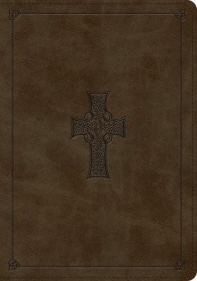 ESV Large Print Wide Margin Bible TruTone, Olive (Imitation Leather)