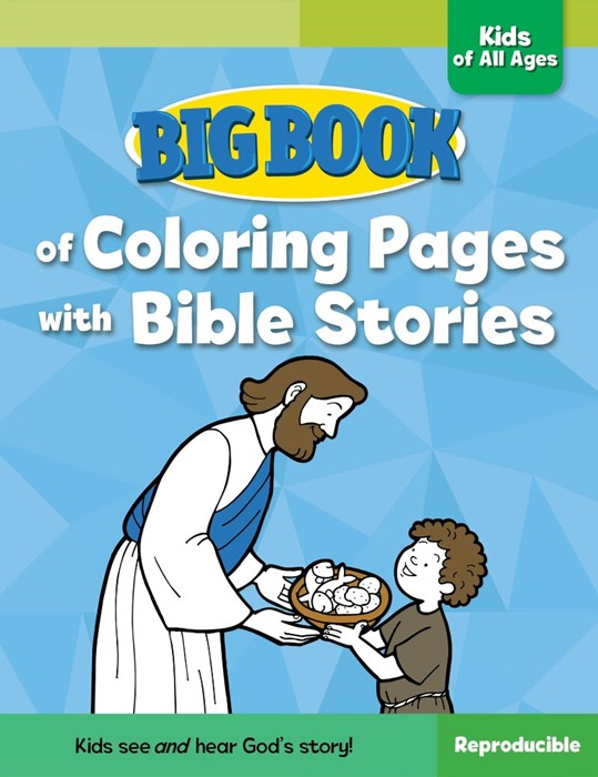 Big Book Of Bible Colouring Pages With Bible Stories (Paper Back)
