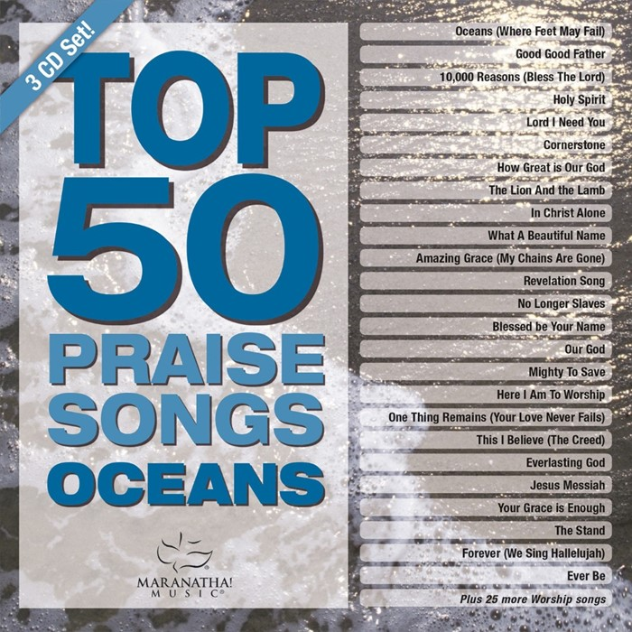 Top 50 Praise Songs - Oceans CD (CD-Audio)