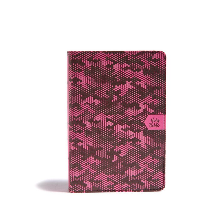 CSB On-the-Go Bible, Pink Camouflage (Imitation Leather)