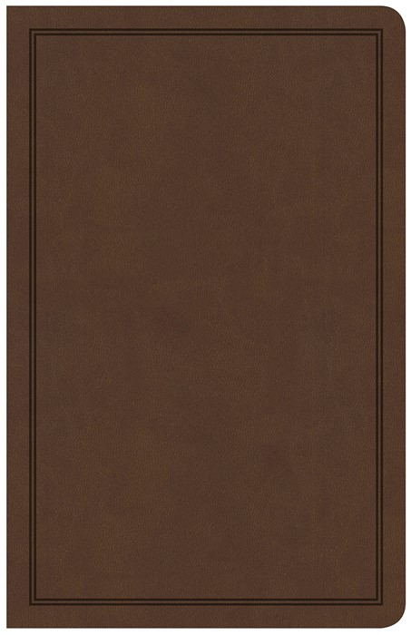 CSB Deluxe Gift Bible, Brown LeatherTouch (Imitation Leather)