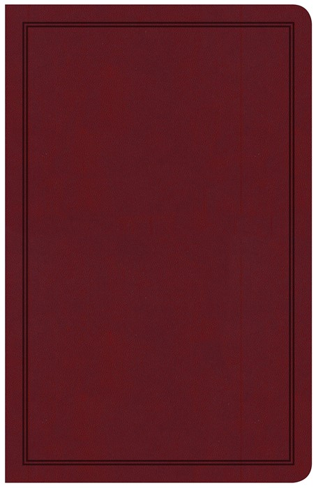 CSB Deluxe Gift Bible, Burgundy LeatherTouch (Imitation Leather)