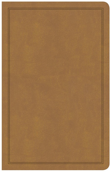 CSB Deluxe Gift Bible, Tan LeatherTouch (Imitation Leather)