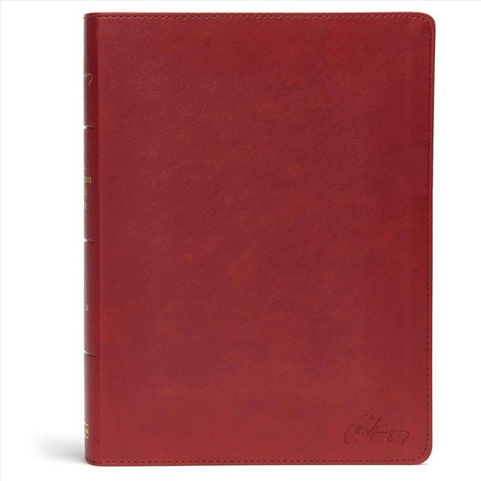 KJV Spurgeon Study Bible, Crimson LeatherTouch (Imitation Leather)