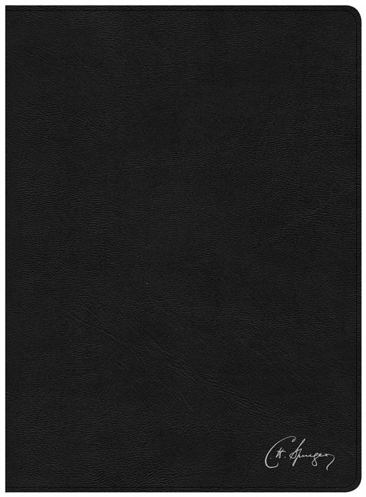 KJV Spurgeon Study Bible, Black Genuine Leather (Leather Binding)