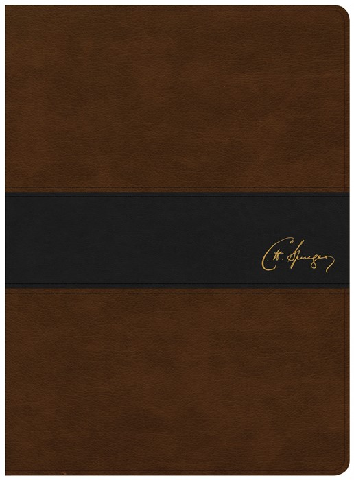 KJV Spurgeon Study Bible, Black/Brown LeatherTouch (Imitation Leather)