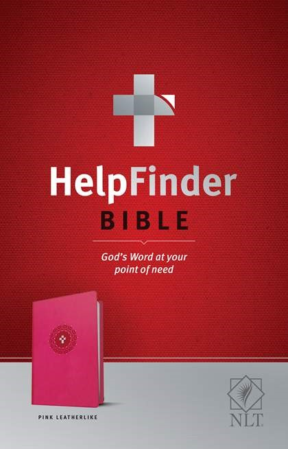 NLT HelpFinder Bible, Pink (Imitation Leather)