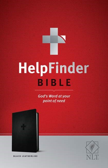 NLT HelpFinder Bible, Black (Imitation Leather)