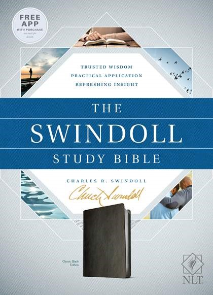 The NLT Swindoll Study Bible Black (Imitation Leather)