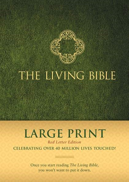The Living Bible Large Print Red Letter Edition (Hard Cover)