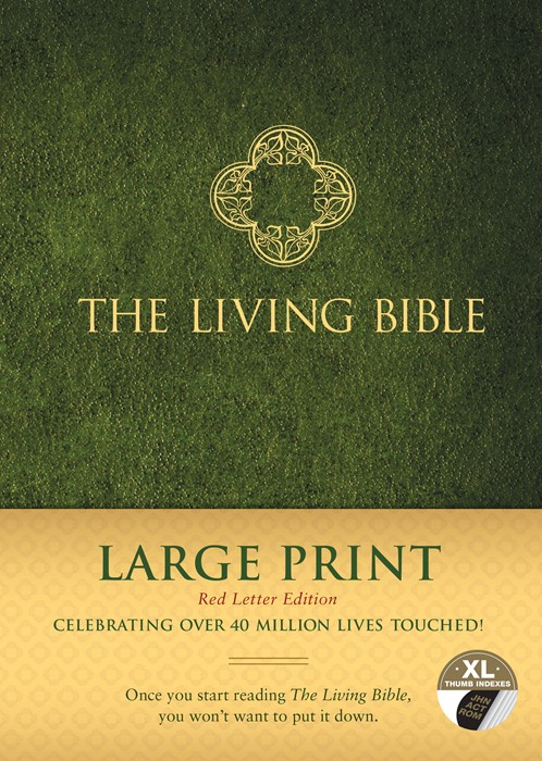 Living Bible Large Print Red Letter Edition, Indexed (Hard Cover)