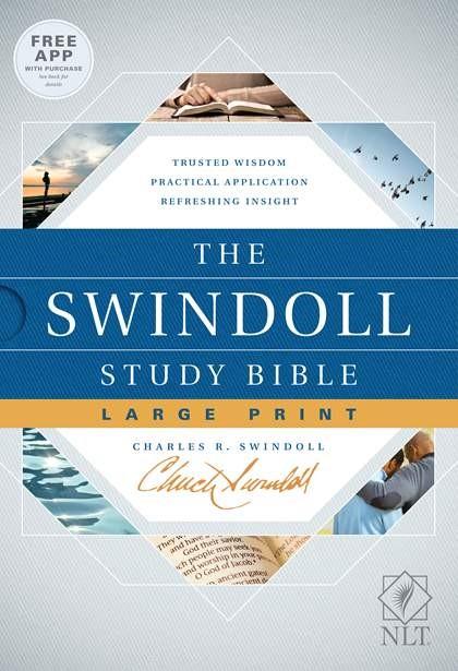 The NLT Swindoll Study Bible, Large Print (Hard Cover)