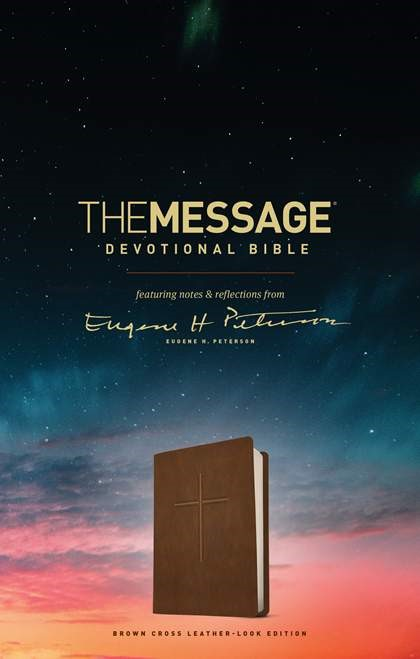 The Message Devotional Bible (Imitation Leather)