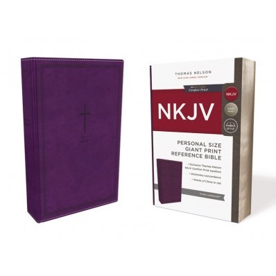 NKJV Reference Bible Personal Size Giant Print, Purple (Imitation Leather)
