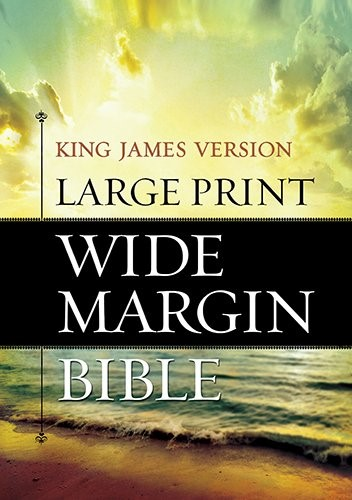 KJV Large Print Wide Margin Bible (Hard Cover)