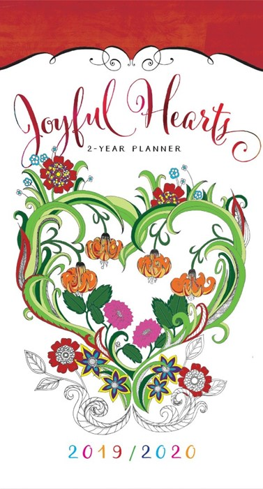 2019/2020 Two Year Pocket Planner Joyful Hearts (Paperback)
