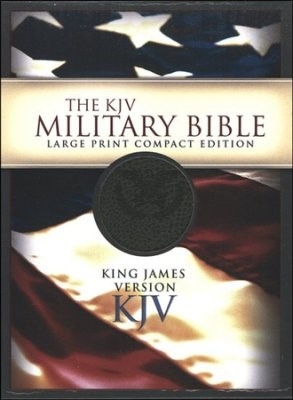 KJV Large Print Compact Military Bible (Imitation Leather)