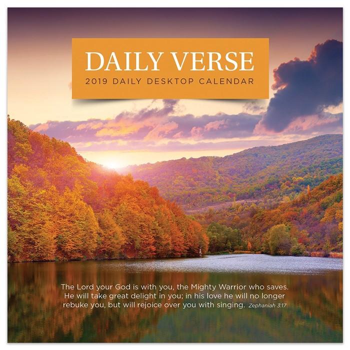 2019 Daily Verse Desktop Calendar (Calendar)