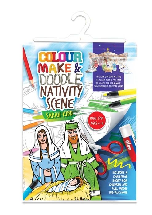 Colour Make and Doodle Nativity Scene