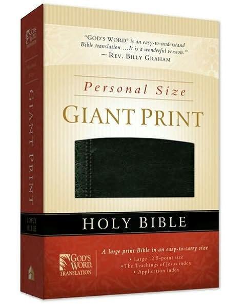 GW Personal Size Giant Print Bible Black Duravella (Leather Binding)